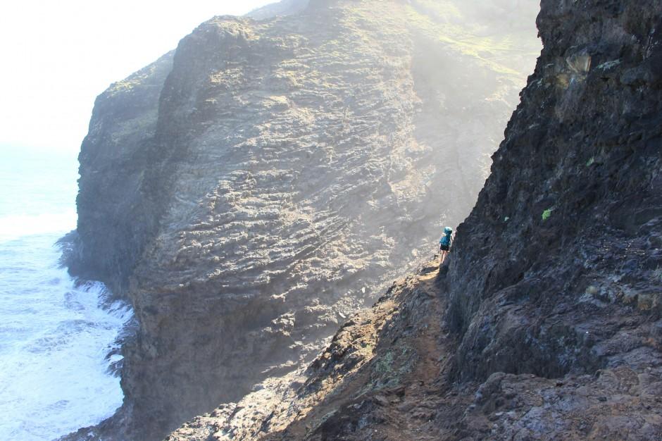 kalalau trail, brian hiking