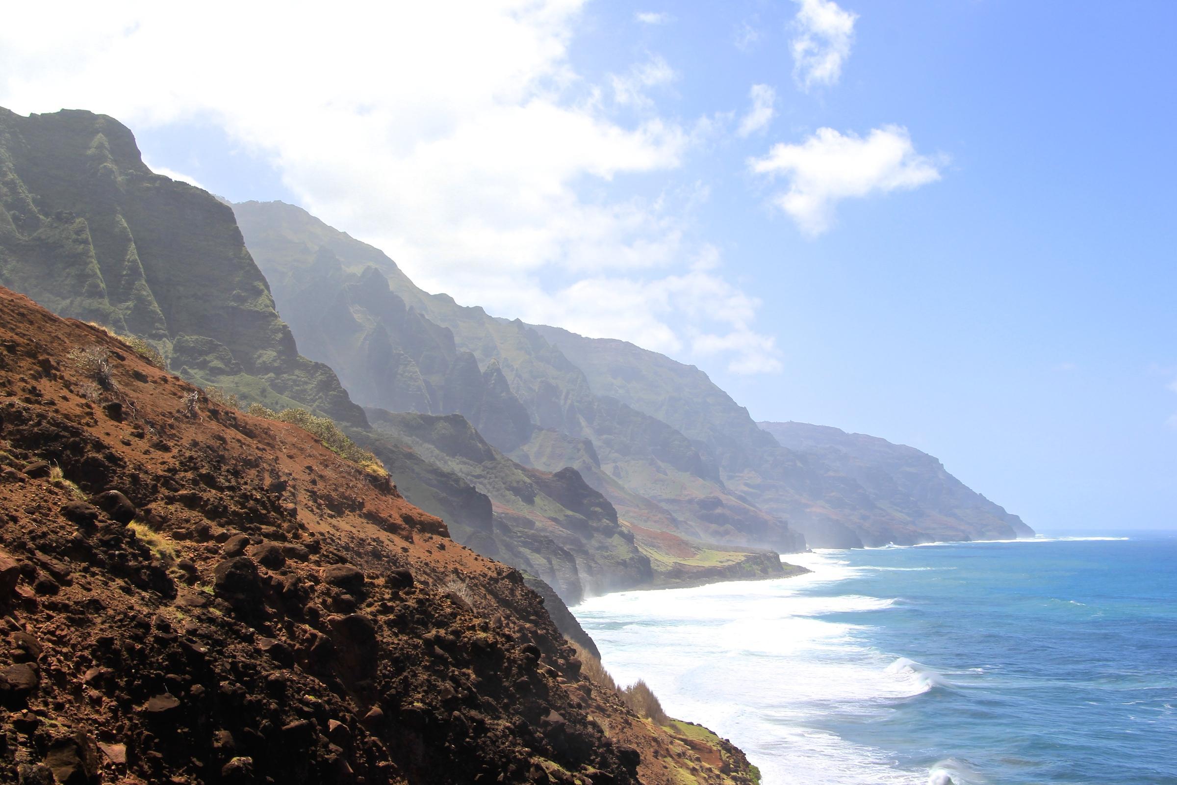 kalalau trail, coastal, ocean
